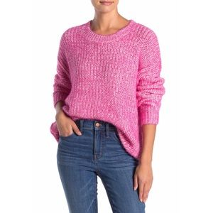 Elodie SuperFun Oversize Chunky Knit Pink Sweater